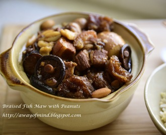 Braised Fish Maw with Peanuts 鱼鳔焖花生