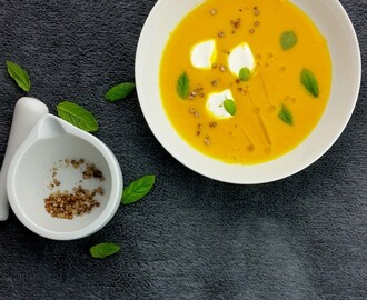 Carrot Soup with Mint and Yogurt
