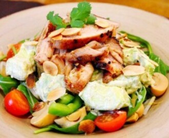 Chicken Thigh and Avocado Salad