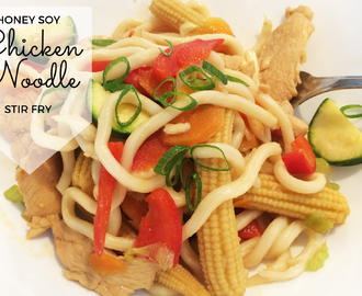 Honey Soy Chicken Noodle Stir Fry Recipe