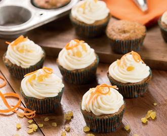 Carrot Cupcakes with Ginger Buttercream
