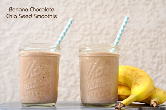 Banana Chocolate Chia Seed Smoothie Recipe