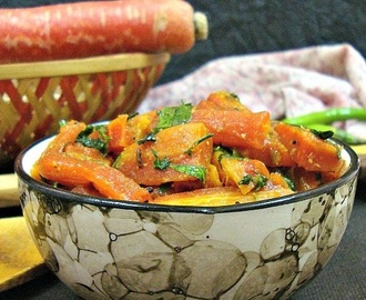 Gajar Methi ki Sabzi (Carrot & Fenugreek Leaves Sabzi/Dry Vegetable)