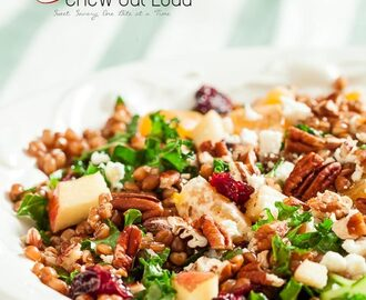 Wheat Berry Salad with Apples and Cranberries
