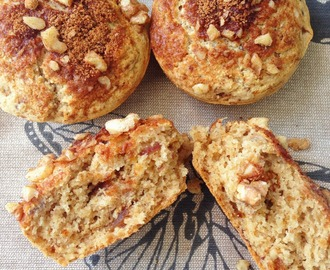 Date, Fig, Apple & Walnut Crumble Muffins