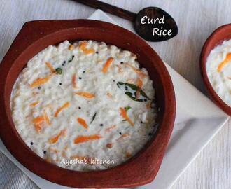 SIMPLE RICE RECIPES  - CURD RICE / THAYIR SADAM