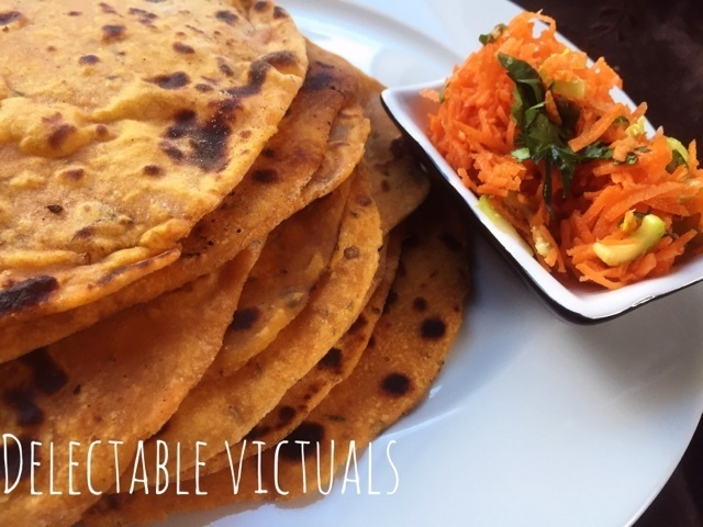 Sweet Potato and Coconut Flour Flax Meal Roti Flatbreads