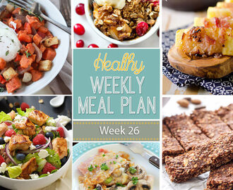 Healthy Meal Plan Week #26