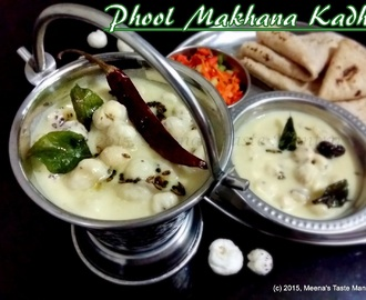 Phool Makhana Kadhi - a heavenly delight made with Lotus Seeds in a perfectly spiced yogurt and chick pea flour curry!
