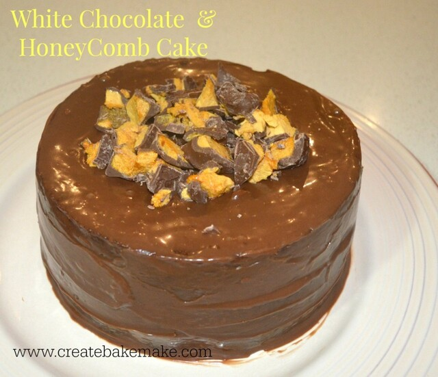 White Chocolate & Honeycomb Cake