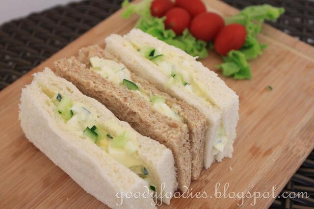 Recipe: Egg mayonnaise with cucumber sandwiches