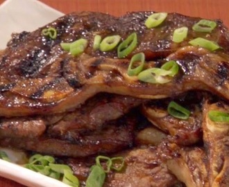Kalbi (Korean Barbequed Beef Short Ribs)