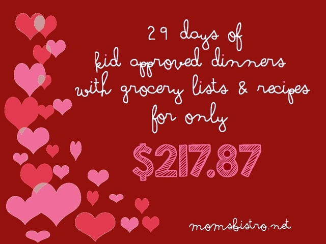 Get In The Groove Of Saving Money On Groceries With February's Budget Meal Plan!  A Month of Kid Friendly Dinners for $217.87!