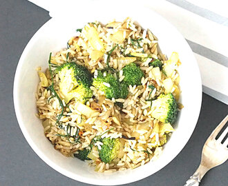 Easy Healthy Lunch #4: Wild Rice And Broccoli Salad Bowl