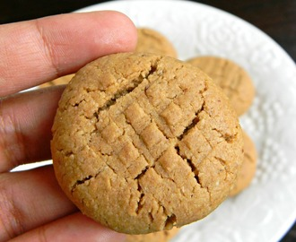 Easy Peanut Butter Cookies Recipe / Eggless Vegan Cookies