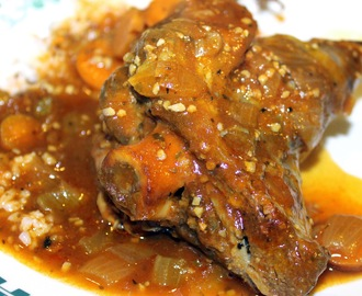 Slow Cooked Braised Lamb Shanks