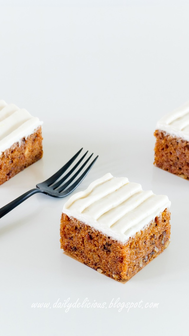 Vegan Carrot cake with coconut frosting