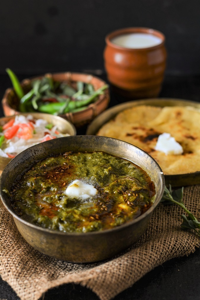 Sarso Ka Saag Recipe, How To Make Sarso Ka Saag