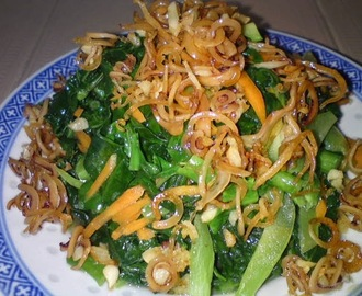 Stir Fry Kailan with Dried Cuttlefish