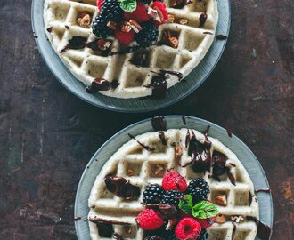 Chia Waffles from Cut the Sugar & Giveaway