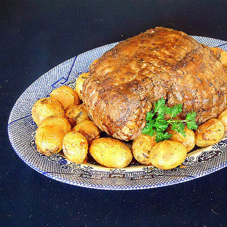 Roasted Lamb with Lemon, Garlic and Rosemary Potatoes