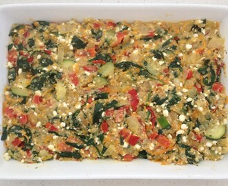 Quinoa and Vegetable Bake… can you get a much healthier lunch than this?