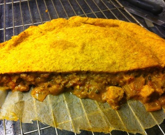 THAI CURRY PIE (vegan) - made with an enriched bread dough
