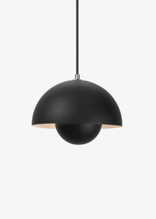&tradition - Flowerpot Pendel VP1 by Verner Panton - Lampa - Matt Black - Ø23 X H16