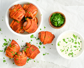 Spicy Pigs in a Blanket with Homemade Ranch Dressing