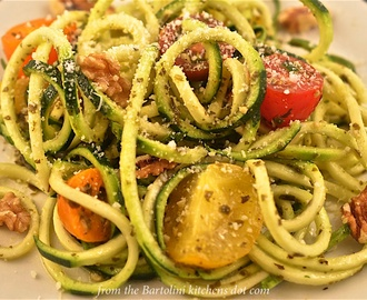 "The Spiralizer Chronicles, Chapter 1: Zucchini ""Noodles"" with Walnut Pesto"