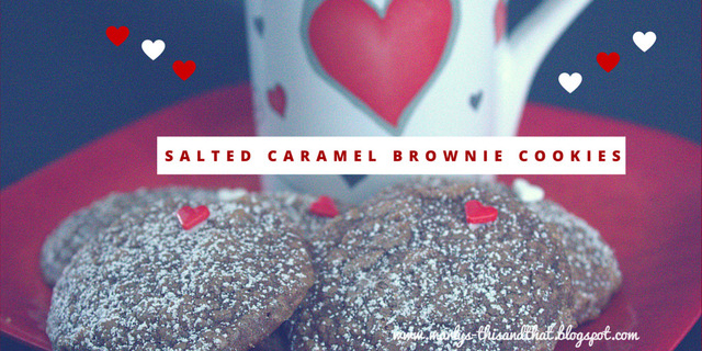 Salted Caramel Brownie Cookies - Fill the Cookie Jar