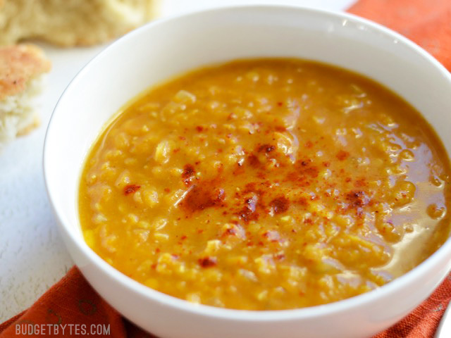 Curried Red Lentil and Pumpkin Soup
