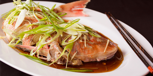 Chinese Steamed Whole Fish