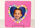 Valentine's Day Candy Heart Glitter Frame