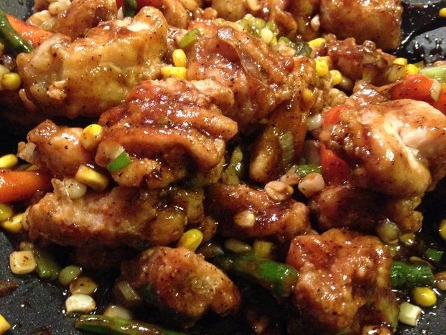 Chinese Chicken w/ Black Pepper Sauce