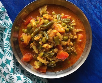 Tarkari Ni Kari |  Parsi Style Vegetable Stew| How to make Parsi Style Sabji| Gluten Free and Vegan Recipe