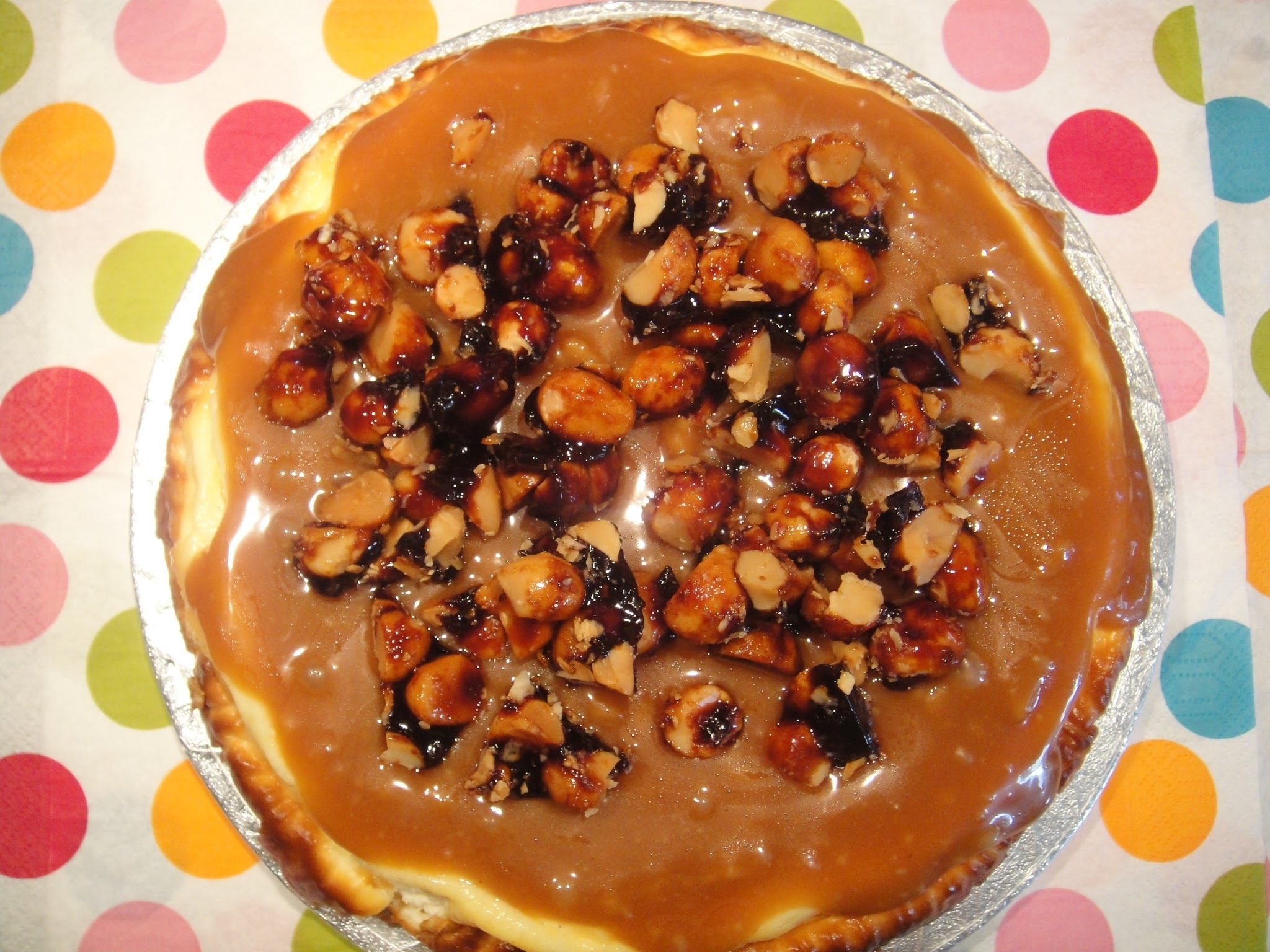 Ottolenghi's Caramel and Macadamia Cheesecake
