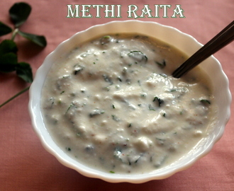 Methi raita recipe – How to make methi (fenugreek) raita recipe | raita recipes
