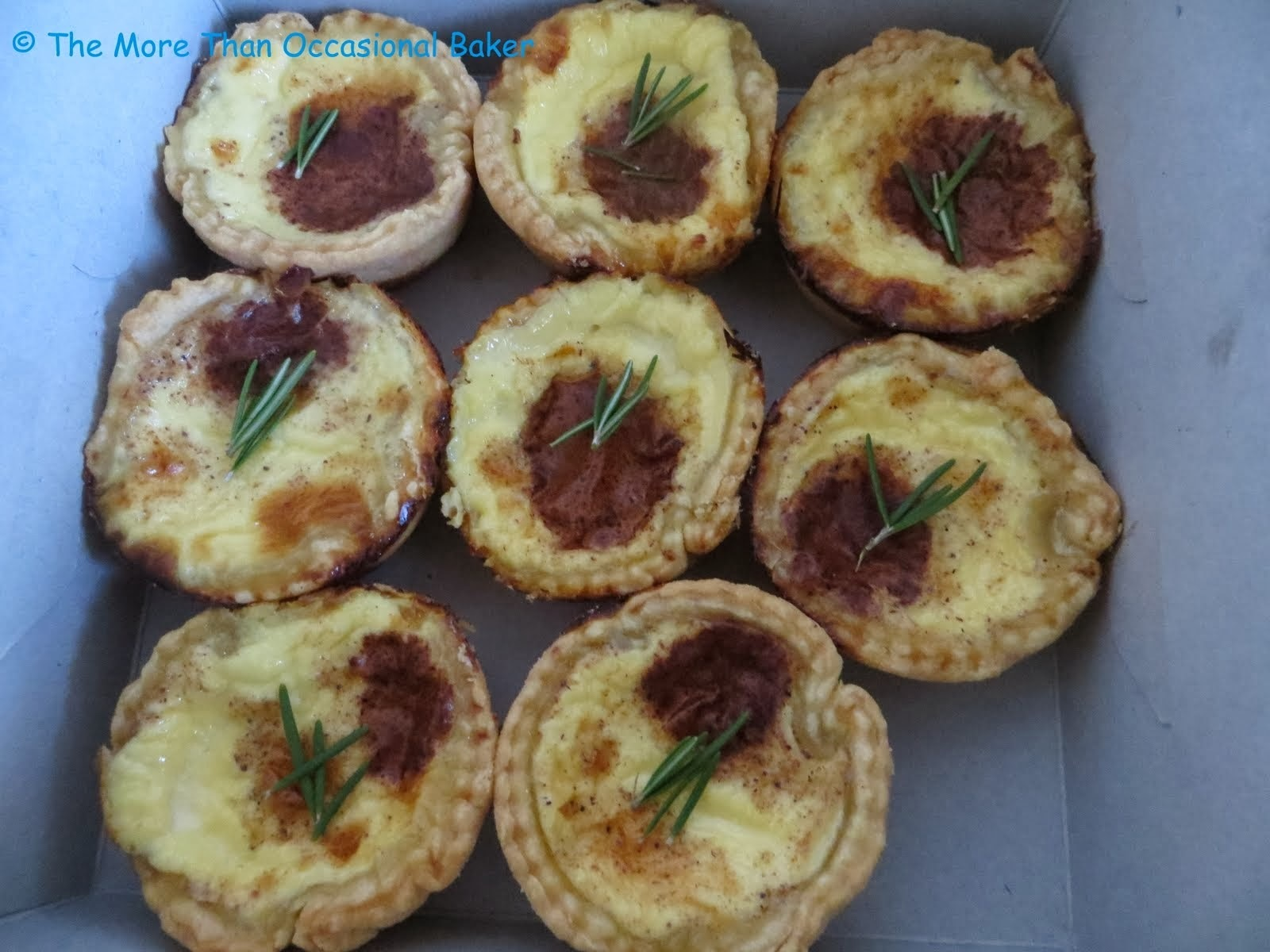 Rosemary Nutmeg Custard Tarts and a review