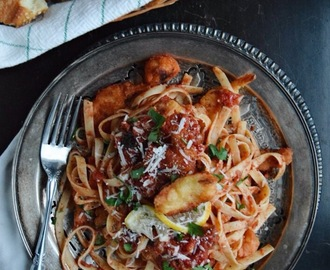 Spicy Seafood Marinara with Pasta