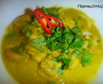 Malaysian Chicken and Prawn Curry (Laksa Paste)