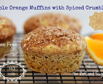 Whole Orange Gluten Free Muffins with Spiced Crumble