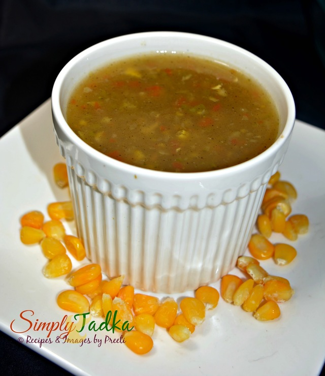 Sweet Corn And Vegetable Soup | Chinese Recipes