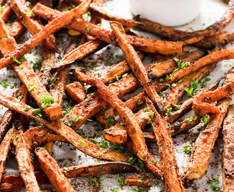 Cajun Sweet Potato Fries with Blue Cheese Yogurt