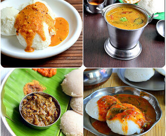 30 Idli Sambar Varieties – South Indian Idli Sambar Recipes – Breakfast Sambar Recipes