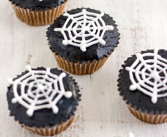 Halloween Spider Web Cupcake Toppers