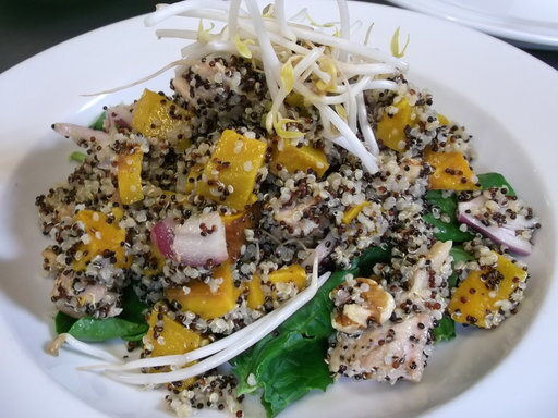Roasted Chicken, Quinoa & Pumpkin Salad