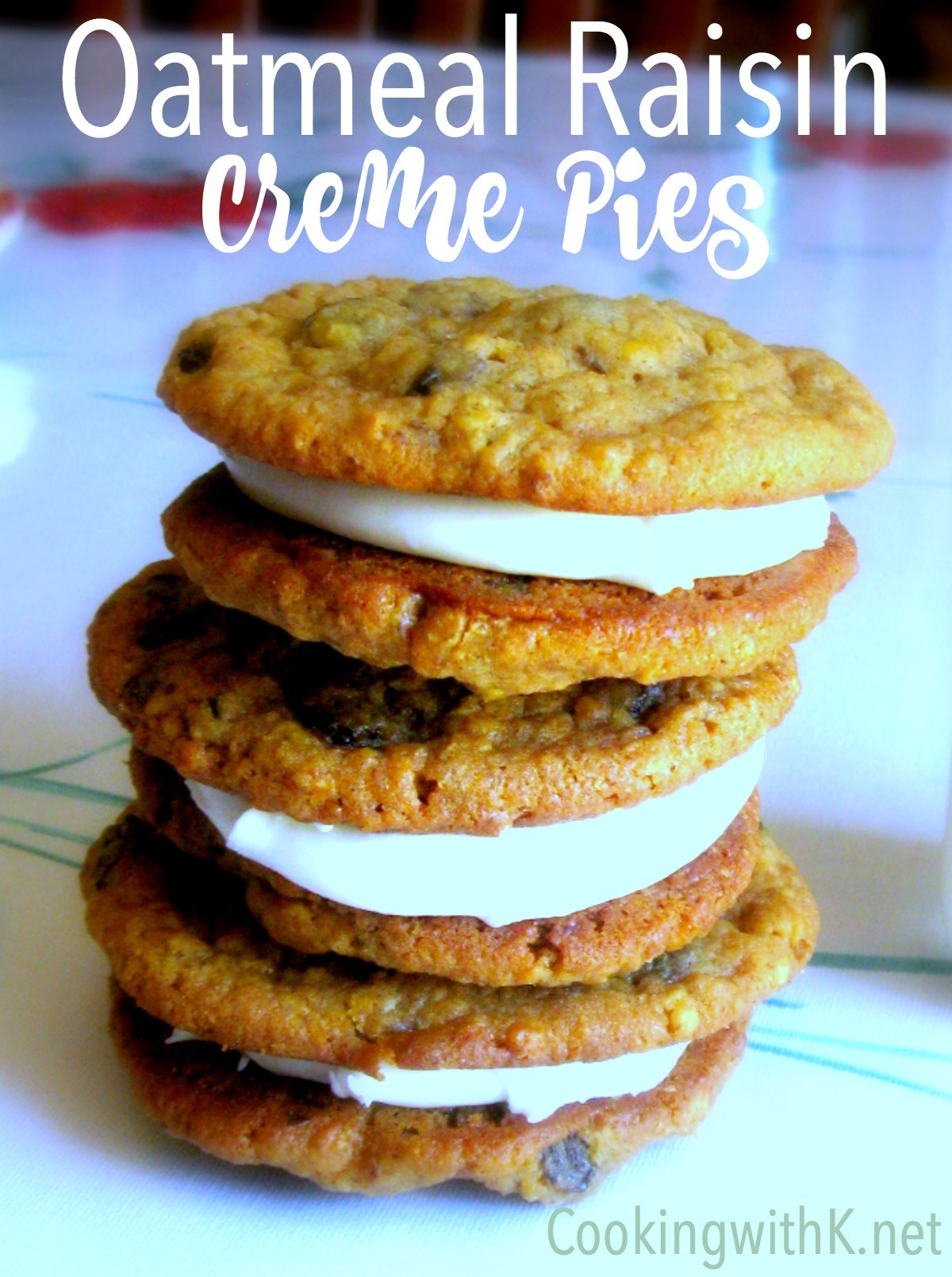 Homemade Oatmeal Raisin Creme Pies