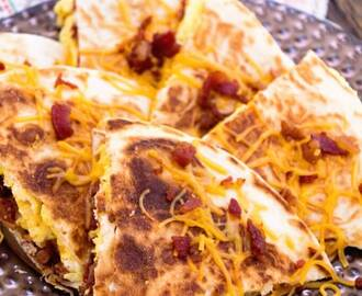 Bacon Egg & Cheese Quesadillas Recipe