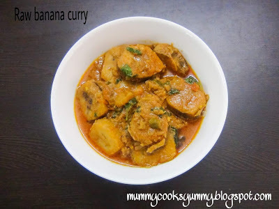 Spicy raw banana curry recipe / Plantain curry recipe / How to make raw banana curry / Kacche kele ki sabji